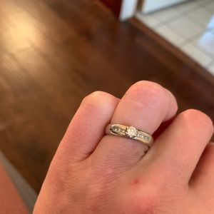 Jewelry - Authentic Diamond and White Gold Ring